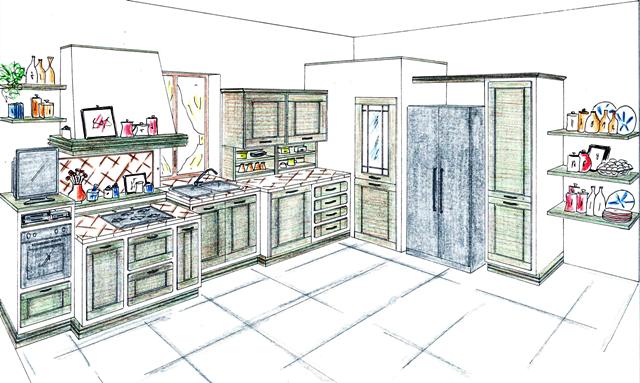 Progettazione e rilievo misure ferrero arredamenti - Misure cucine in muratura ...